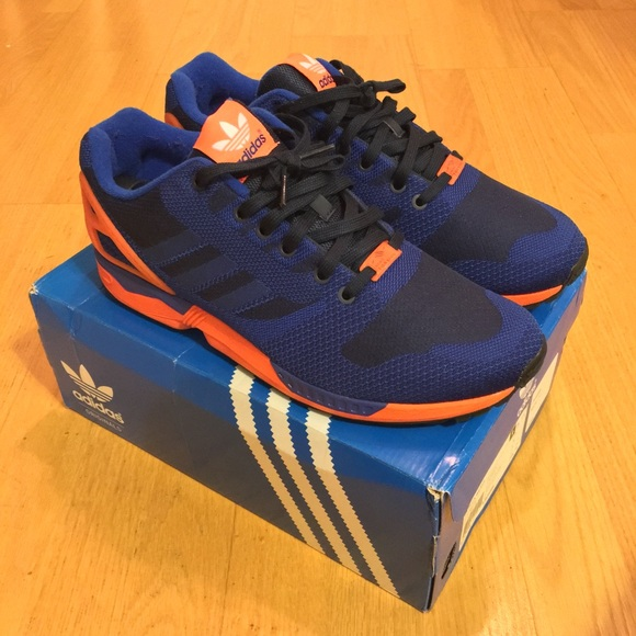 online store 06088 bab9f Adidas Originals ZX Flux Weave Blue Orange - 11.5 NWT